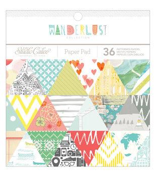 "Wanderlust paper Pad 6""X6"" 36/Sheets-Single-Sided"
