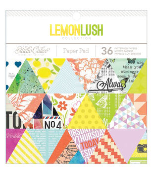 "Lemonlush paper Pad 6""X6"" 36/Sheets-Single-Sided"