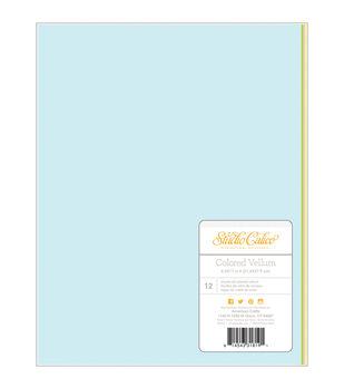 """Lemonlush Solid Vellum 8.5""""X11"""" 12/Pkg-4 Colors/3 Each"""