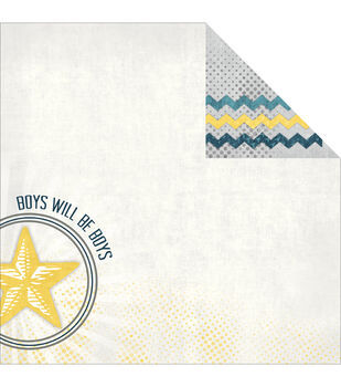 Adorn-It Boys Construction Double-sided Paper