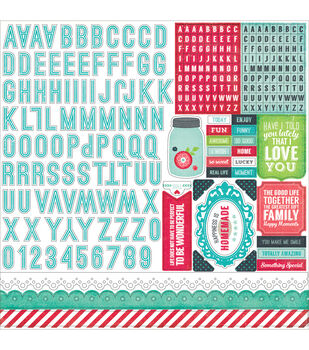 "We Are Family Cardstock Stickers 12""X12""-Alpha"