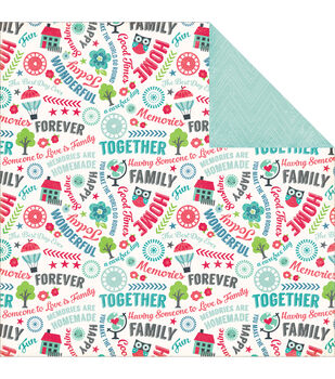 "We Are Family Double-Sided Cardstock 12""X12""-Good Times"