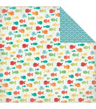 "Walking On Sunshine Double-Sided Cardstock 12""X12""-Fancy Fish"