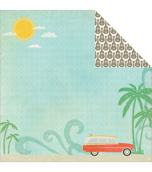 "Walking On Sunshine Double-Sided Cardstock 12""X12""-Ocean Scenery"
