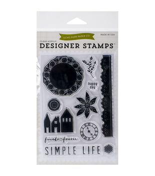 Echo Park Stamp Set-Simple Life