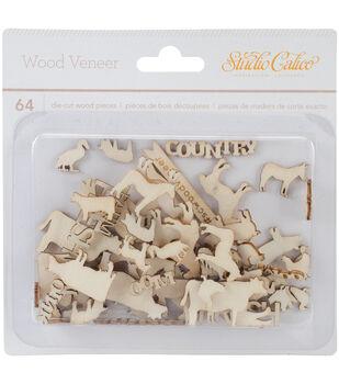 South Of Market Laser-Cut Wood Veneer Shapes 64/Pkg-Animals