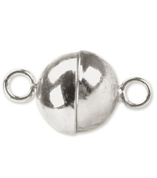 Beadalon 8mm Magnetic Clasps-Round 2 SETS/Silver Plated