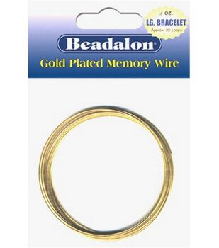 Beadalon Memory Wire Bracelet Coil-.50 Oz/Gold Plated