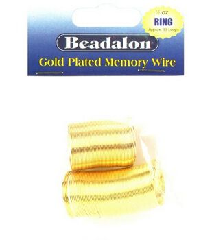 Beadalon Memory Wire Ring Coil-.50 Oz/Gold Plated