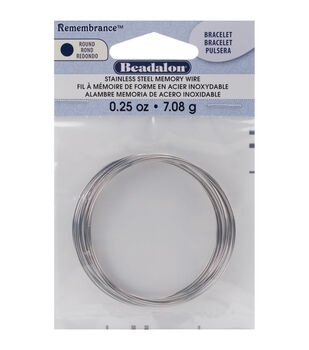 Beadalon Remembrance Memory Wire Bracelet Coil-Stainless Steel