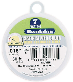 Beadalon Craft Series .38mm 7 Strand Satin Stringing Wire-30Ft/MANY COLORS