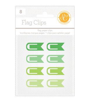 """Essentials Flag Clips .5""""X1.25"""" 8/Pkg"""