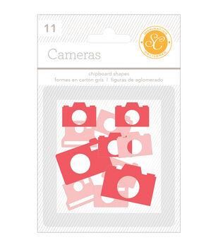 Essentials Chipboard Shapes Cameras 11/Pkg