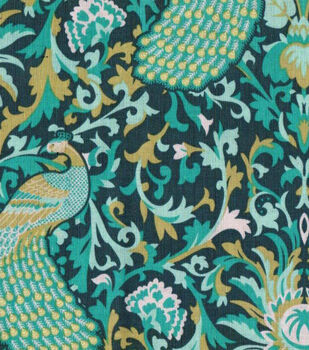 Keepsake Calico Fabric- Floral Peacock
