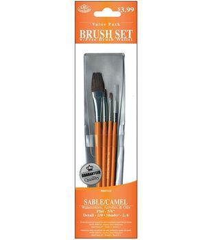 Value Pack Brush Sets-Sable/Camel