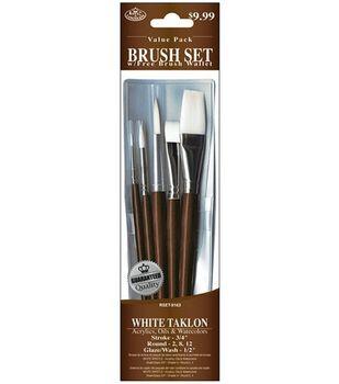 Value Pack Brush Sets-White Taklon