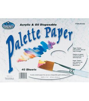 Disposable Palette Paper 8-1/4''X11-1/5'' 40 Sheets/Pad