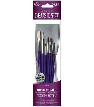 Brush Set Value Pack Bristle/Sable 7/Pkg
