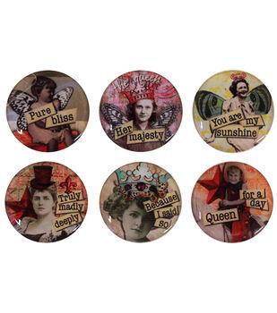 """Vintage Collection Epoxy Stickers 1"""" 6/Pk-Nostalgic 2"""