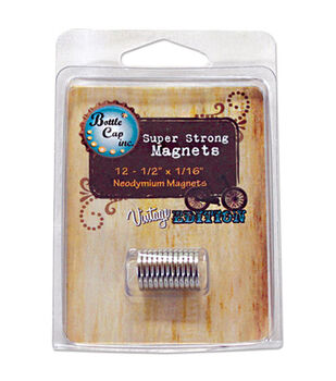 """Vintage Collection Magnets 1/2""""X1/16"""" 12/Pk-"""