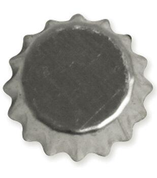 """Vintage Collection Mini Bottle Caps 1/2"""" 12/Pk-Chrome"""