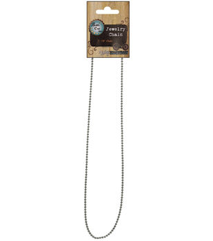 """Vintage Collection Necklace Ball Chain 18""""-Chrome 1.5mm"""