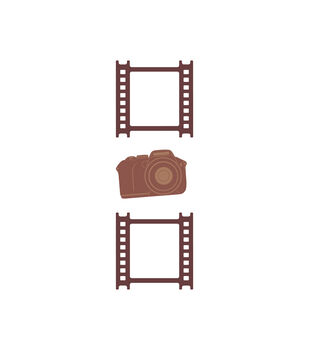 Camera & Filmstrip Wood Embellishments