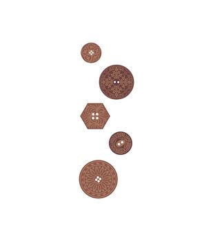 Button Wood Embellishments