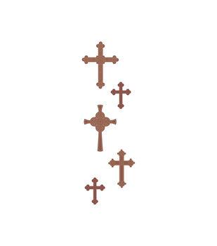 Crosses Wood Embellishments
