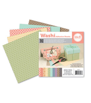 6x6 inch Washi Adhesive Sheets Light