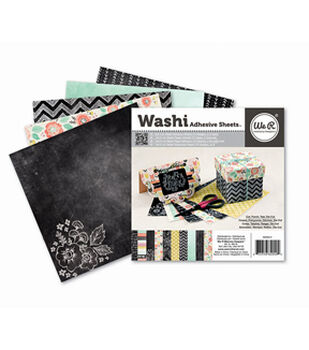6x6 inch Washi Adhesive Sheets Dark