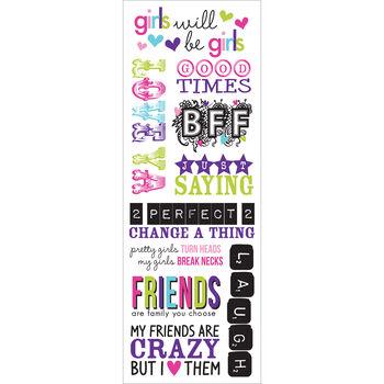 Momenta Vellum Stickers Sheet Youthful Friendship