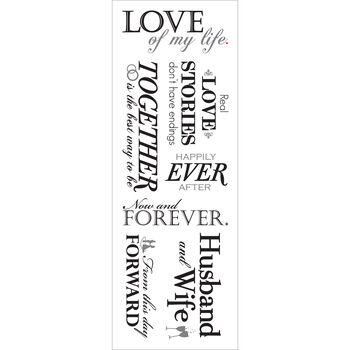 Momenta Vellum Stickers Sheet Love of My Life