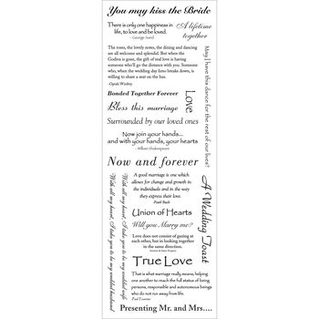 Momenta Vellum Message Stickers Wedding B and W