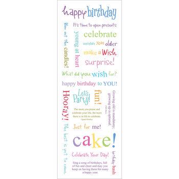 Momenta Vellum Message Stickers Happy Birthday