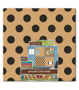 The BoardDudes  Step:1 14x 14 Designer Cork Board Polka Dot