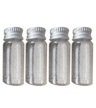 Art-C Small Glass Bottle with Metal Cap