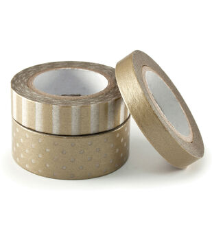 We R Metallic Washi Tape 78 Feet/Pkg-Gold