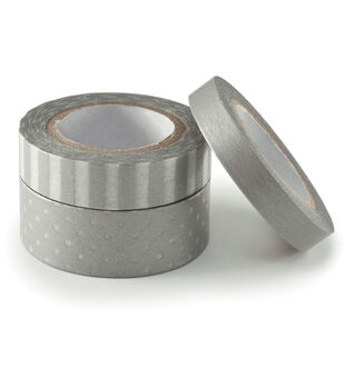 We R Metallic Washi Tape 78 Feet/Pkg-Silver