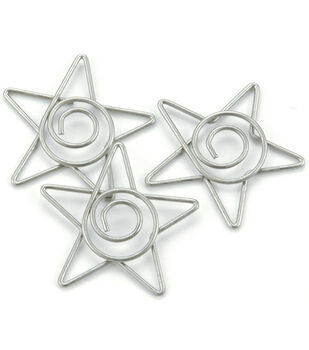 Creative Impressions Metal Spiral Star Paper Clips-15PK/Pewter