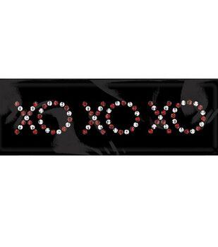 me & my BiG Rhinestone Word & Icon Stickers-XO, XO, XO/Crystal & Red