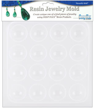 "Yaley Resin Jewelry Reusable Plastic Mold 6-1/2""x7""-Cabachons16Shapes"