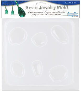 "Yaley Resin Jewelry Reusable Plastic Mold 6-1/2""x7""-Natural Stones5Shps"