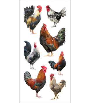 Paper House Stickers-Roosters