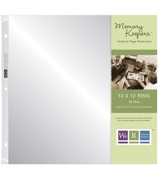 """We R Ring Page Protectors 12""""X12""""-10 Pack"""