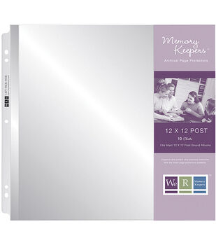 """We R Post Page Protectors 12""""X12""""-10 Pack"""