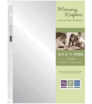 """We R Ring Page Protectors 8-1/2""""X11""""-10 Pack"""