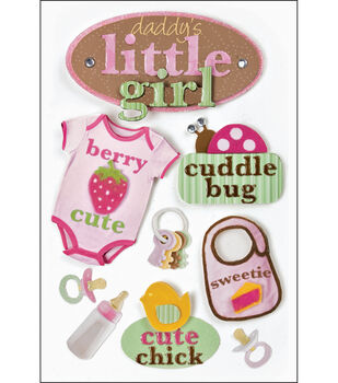 Paper House 3-D Stickers-Little Girl