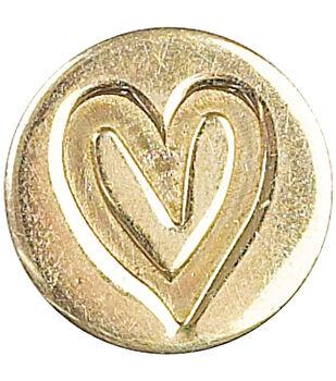Manuscript Decorative Seal Coin-Heart