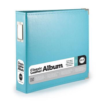 Classic Leather Aqua 8x8 Album
